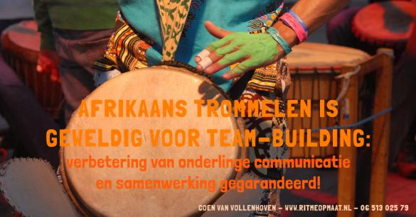 www.ritmeopmaat.nl - Afrikaans trommelen is geweldig voor teambuilding: het bevordert onderlinge communicatie en samenwerking.