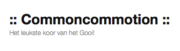 Logo van Kamerkoor Common Commotion