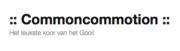 Logo van Kamerkoor Common Commotion
