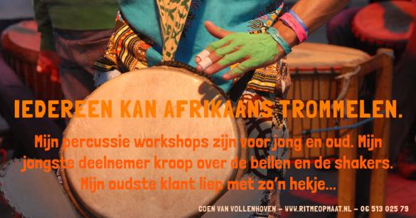 www.ritmeopmaat.nl - Iedereen kan Afrikaans trommelen